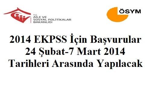 2014 EKPSS başvuruları